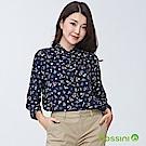 bossini女裝-印花七分袖襯衫04葡萄色