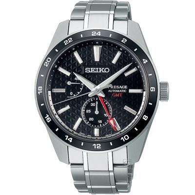 SEIKO 精工 Presage Susutake 墨色GMT機械錶-SPB221J1(6R64-00C0D)