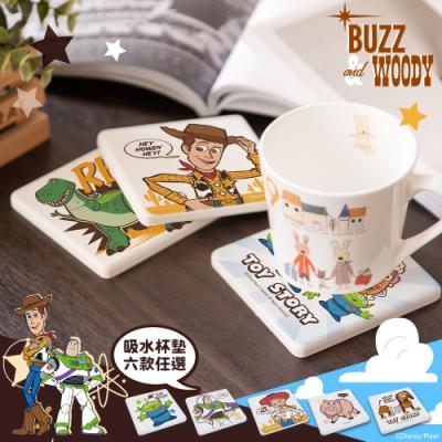【收納皇后】玩具總動員系列珪藻土吸水杯墊(2入組)