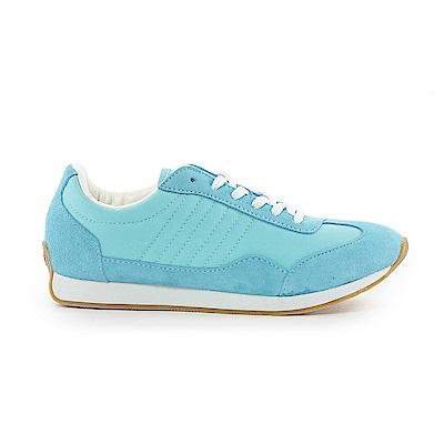【TOP GIRL】古著風復古慢跑休閒鞋-淺藍
