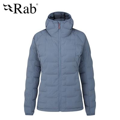 【RAB】Cubit Stretch Down Hoody 保暖羽絨連帽外套 女款 白令海藍 #QDB31