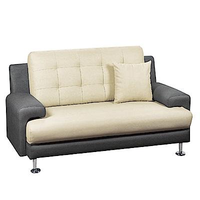 綠活居 西納羅時尚雙色透氣皮革二人座沙發椅-149x82x85免組