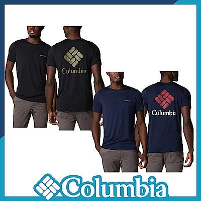 Columbia 哥倫比亞 男款- 快排LOGO短袖上衣-2色 UAO02930