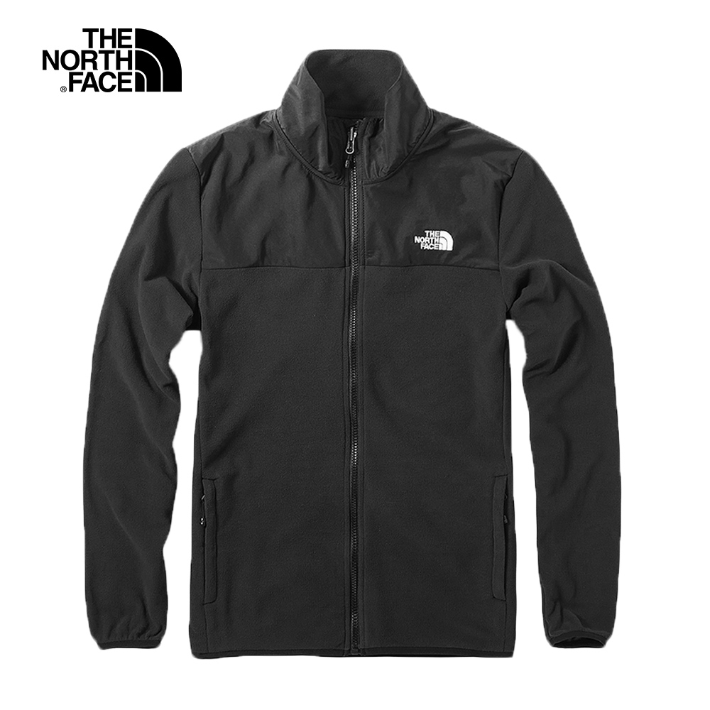 The North Face北面男款黑色保暖抓絨外套|3VTAJK3