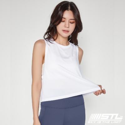 STL Yoga Fresh Crepe Perfect Tank 韓國 戶外運動機能上衣 快速排汗 無袖背心 比基尼外罩/登山/重訓/瑜珈/路跑 氣質白