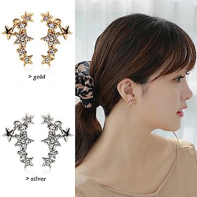 梨花HaNA 無耳洞韓國那顆流星劃過垂綴耳環夾式