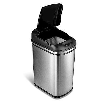 美國NINESTARS時尚不鏽鋼感應垃圾桶30L(廚衛系列)