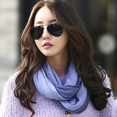 正韓 時尚自然漸層雙色流蘇圍巾 (共五色)-N.C21