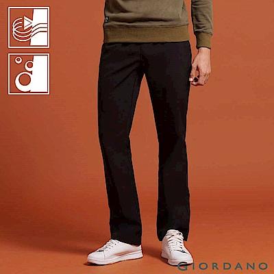 GIORDANO 男裝腰鬆緊抽繩機能防風長褲-08 經典黑