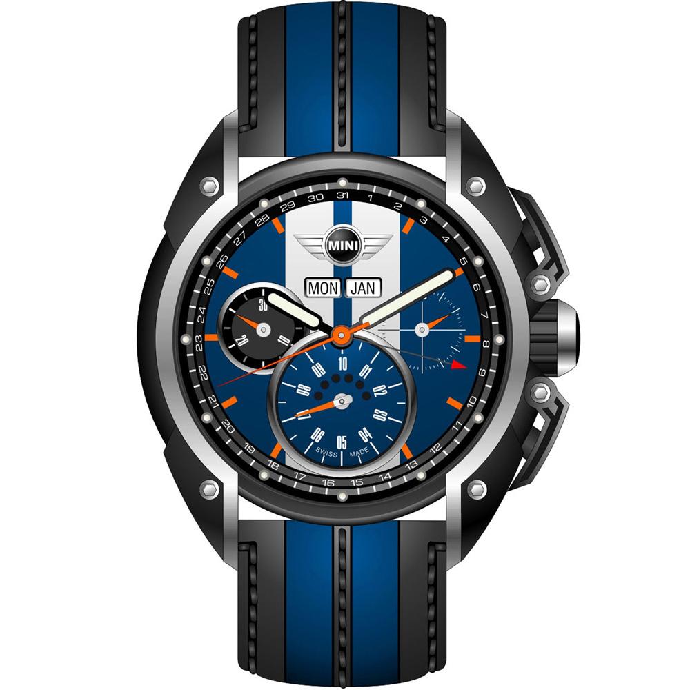 MINI Swiss Watches極速運動計時腕錶(MINI-02)-藍