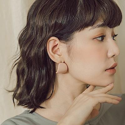 質感弧型半圓耳環-OB大尺碼