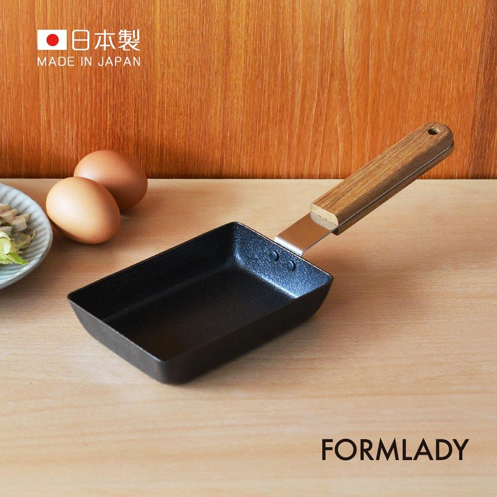 日本FORMLADY 小泉誠 ambai日製原木柄玉子燒鐵鍋-S