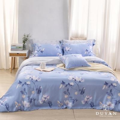 DUYAN竹漾-60支萊塞爾天絲-雙人加大兩用被床包四件組-湖畔花籬 台灣製