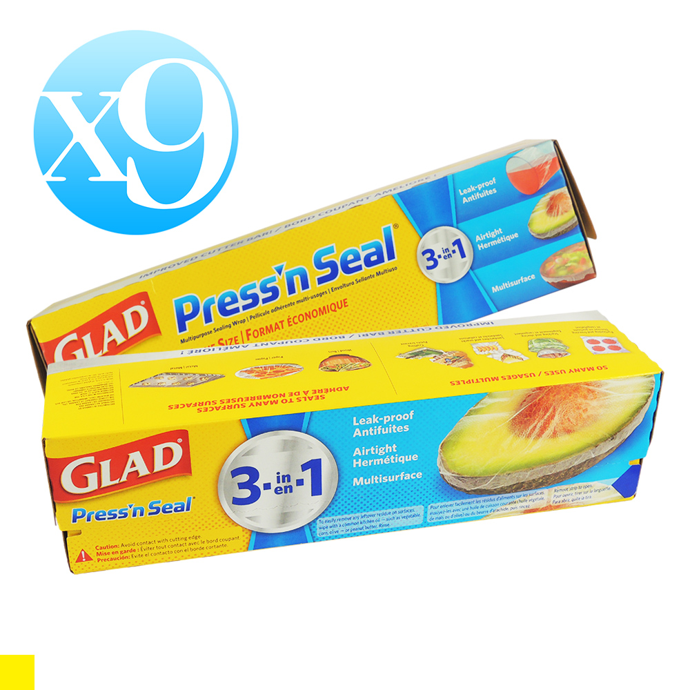 GLAD Press'n Seal 強力保鮮膜-9入組