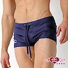 泳褲 酷勁個性 男子素色四角短泳褲(深藍L~2L)AngelHoney天使霓裳