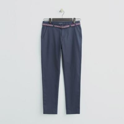 Hang Ten - 女裝 -腰帶造型修身長褲 - 藍