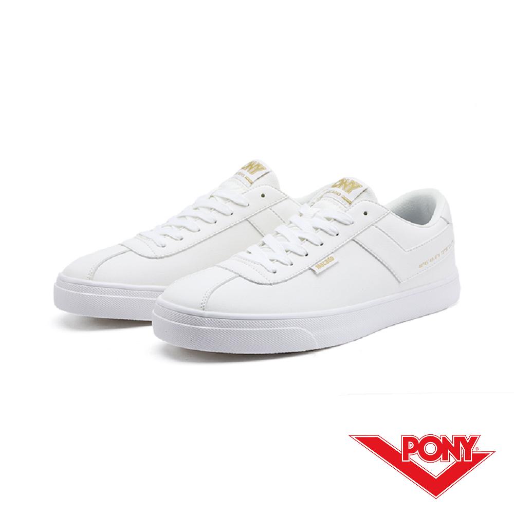 【PONY】Macado系列-經典復古休閒鞋-女-白