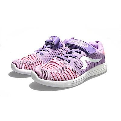 【ZEPRO】SPEED流速飛織輕量運動鞋(中童)-紫