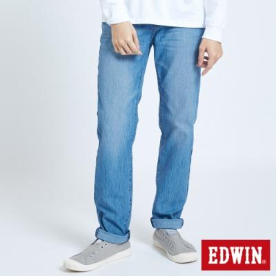 EDWIN JERSEYS 迦績 車織帶AB牛仔褲-男-重漂藍