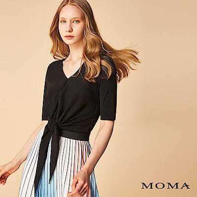MOMA扭結短版上衣