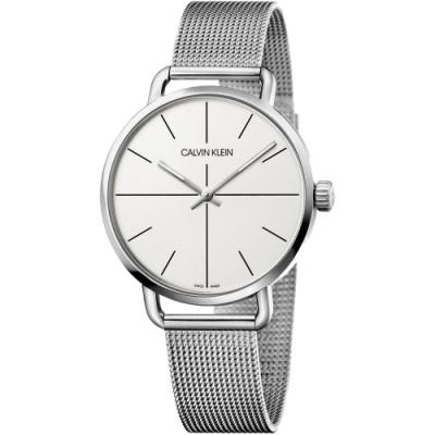 Calvin Klein CK Even 超然系列十字線米蘭帶手錶 K7B21126