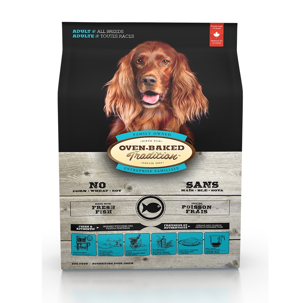加拿大OVEN-BAKED烘焙客-成犬深海魚-原顆粒 11.34kg(25lb) (購買第二件贈送寵鮮食零食*1包)