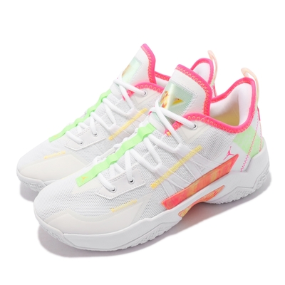 Nike 籃球鞋 Jordan One Take II 男鞋 喬丹 明星款 忍者龜 避震 包覆 運動 白 粉 CW2458-163