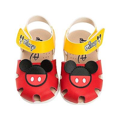 迪士尼童鞋 米奇 手工涼鞋-紅