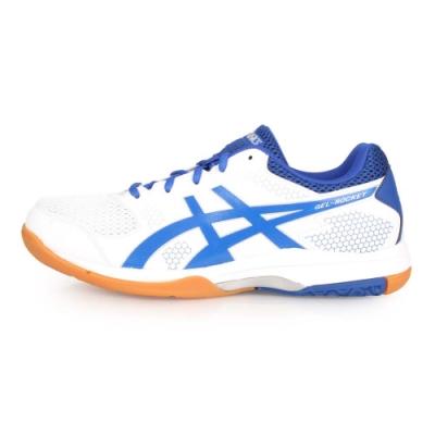 ASICS GEL-ROCKET 8 男排羽球鞋-排球 訓練 羽球 白藍