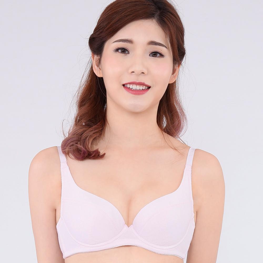 思薇爾 牛奶紗系列B-E罩軟鋼圈素面包覆內衣(柔粉色)