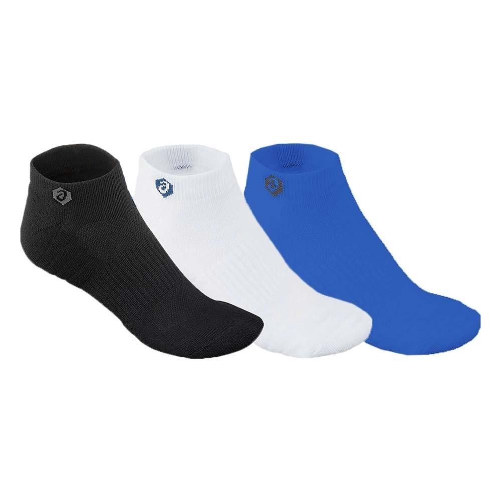 ASICS 男 3包裝短襪
