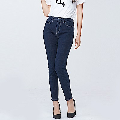 bossini女裝-四向彈性合身牛仔褲01深靛藍
