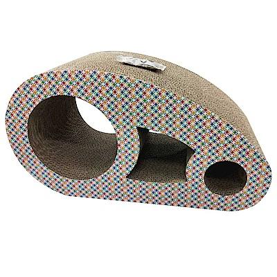 MDOBI摩多比-貓丸家 瓦楞紙 貓抓板-橢圓貓洞屋