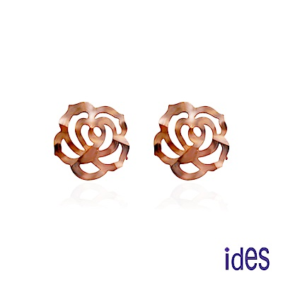 ides愛蒂思 限量義大利14K玫瑰金耳環(氣質牡丹)