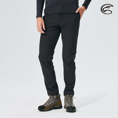 ADISI 男Softshell防風超撥水高透氣保暖長褲AP2021076 (S-2XL) 黑色