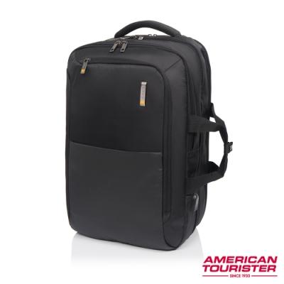AT美國旅行者 Segno多功能兩用筆電後背包17吋(黑)