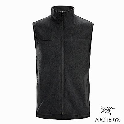 Arcteryx 始祖鳥 男 24系列 Covert 針織 刷毛 保暖背心 黑灰
