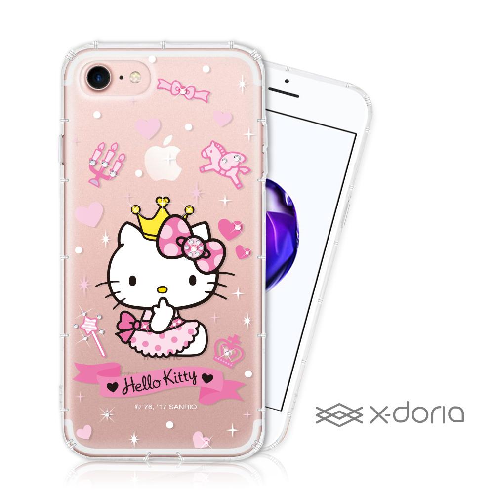 Hello Kitty iPhone 7/8 彩繪水鑽手機空壓殼 - 仙女