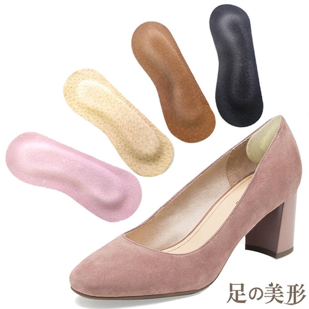 足的美形  台灣製4mm真皮後跟貼(4雙)