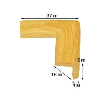 【日本CAR-BOY】尖角防護軟墊(極細)(淺木紋)(幫危險尖角加上柔軟防護)