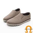 【GEORGE 喬治皮鞋】休閒系列 直套式萬用工作皮鞋-灰色