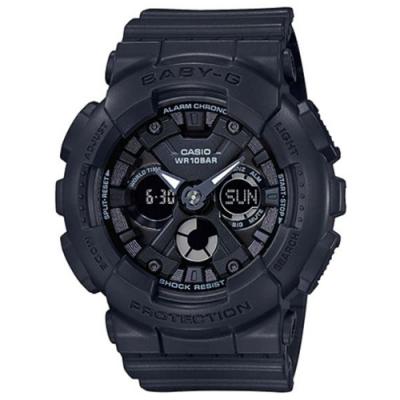 BABY-G-時尚風格三圈造型數碼雙重顯示休閒錶/43.3mm-共7色