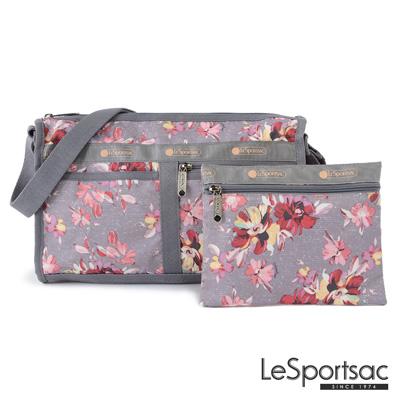LeSportsac - Standard雙口袋斜背包-附化妝包(吉普賽玫瑰)