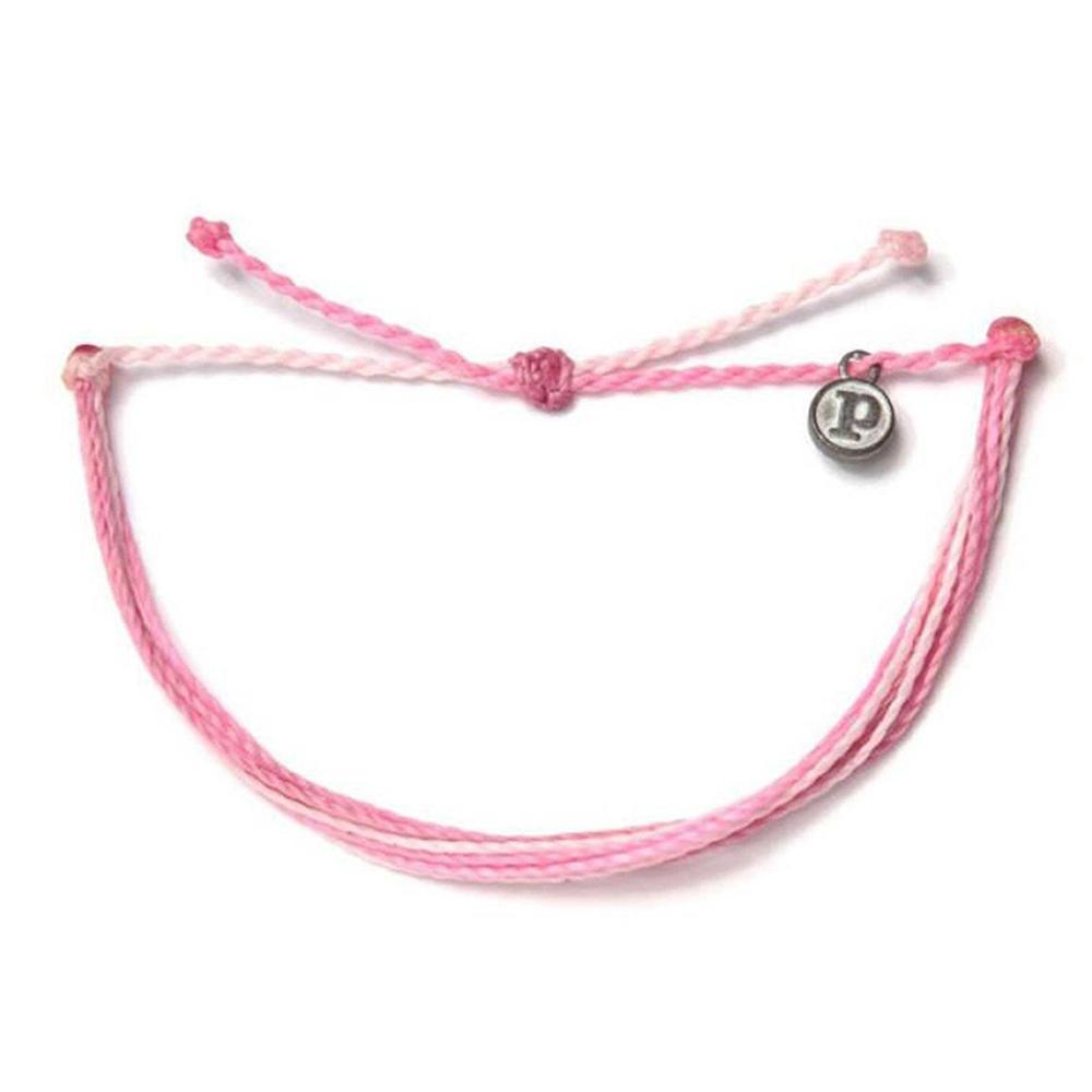 Pura Vida 美國手工 B4BC限定款 粉色系基本款可調式手鍊