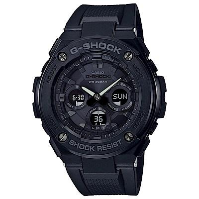G-SHOCK G-STEEL黑潮覺醒太陽能雙顯運動錶(GST-S300G-1A1)