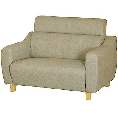 綠活居 艾凱蒂時尚灰貓抓皮革二人座沙發椅-144x79x95cm免組