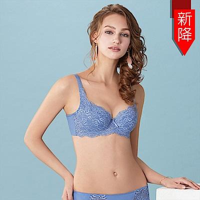 曼黛瑪璉 包覆提托經典內衣 B-E罩杯(舒棉藍)