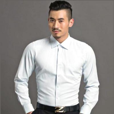 【WEISHTON】韓版修身抗皺商務襯衫-長袖