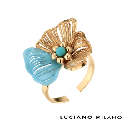 LUCIANO MILANO 秘密花園純銀戒指