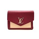 LOUIS VUITTON M63811 MYLOCKME 牛皮三折釦式短夾(玫紅)